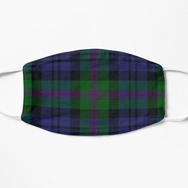 Scottish Orkney Tartan in Green+Purple Mask