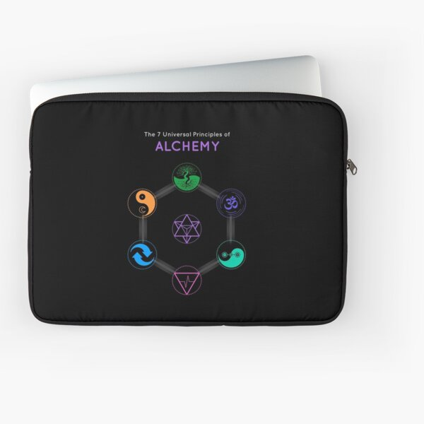 The 7 Universal Principles of Alchemy - Shee Symbols Laptop Sleeve