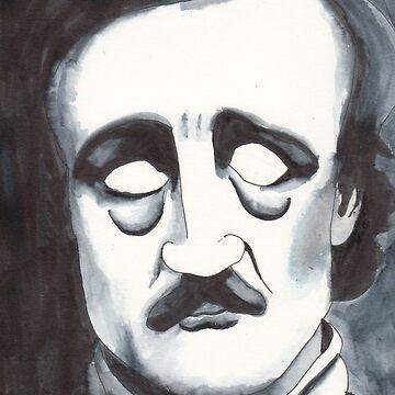Edgar Allan Poe by dinahstubbs