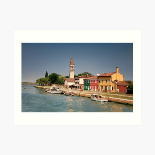 Burano Colors During a Warm Afternoon in Venice  Art Print