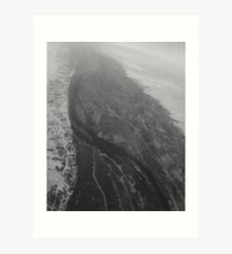 Egypt From Above - The Nile In Black and White Art Print