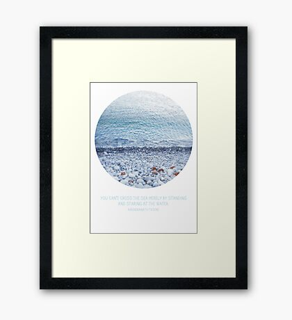 Standing and Staring Framed Print