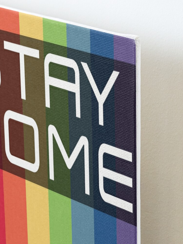 Alternate view of Stay Home. Save Lives. Mounted Print