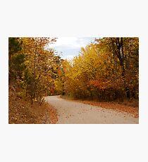 Thoroughfare into Fall Photographic Print