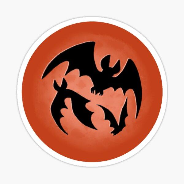 Blood Moon Bats Sticker