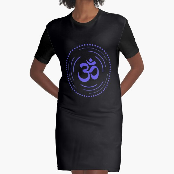The Principle of Vibration - Shee Symbol Graphic T-Shirt Dress