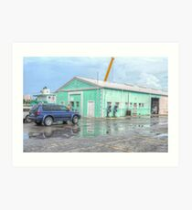 Police Station at Potter's Cay in Nassau, The Bahamas Art Print