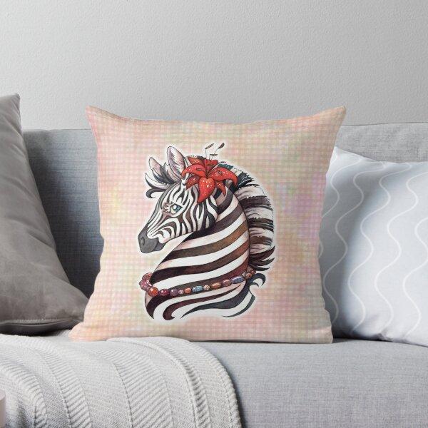 sommerliches Zebra Dekokissen