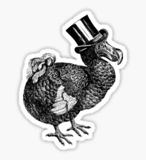 Mr Dodo | Black and White Sticker