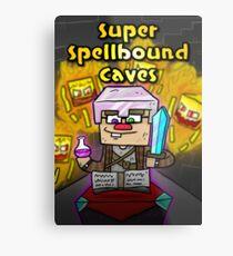 Super Spellbound Caves - Enchanting Poster Metal Print