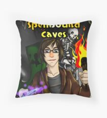 Super Spellbound Caves - Discovery Poster Throw Pillow