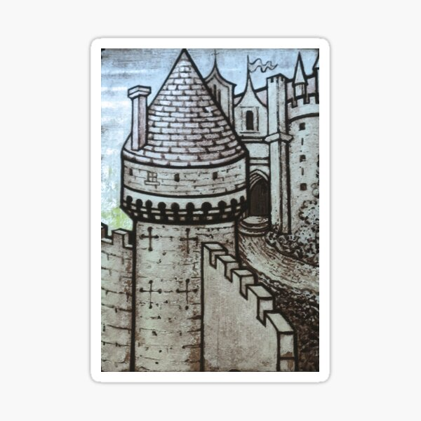 medieval castles and fairy tales Sticker
