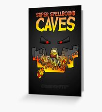 Super Spellbound Caves - Blaze Poster Greeting Card