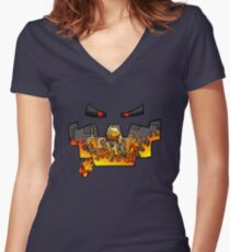 Super Spellbound Caves - Blaze T-Shirt Women's Fitted V-Neck T-Shirt