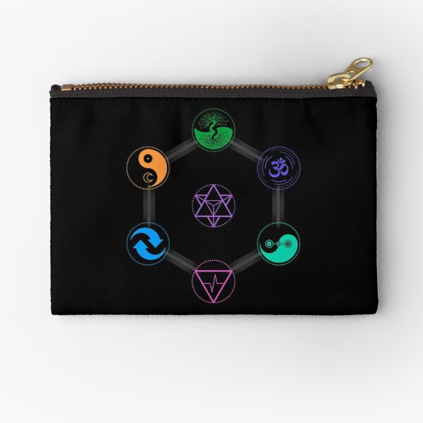 The 7 Universal Principles of Alchemy - Shee Symbols Zipper Pouch