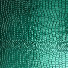 Green Snakeskin Leather Look Pattern by artonwear