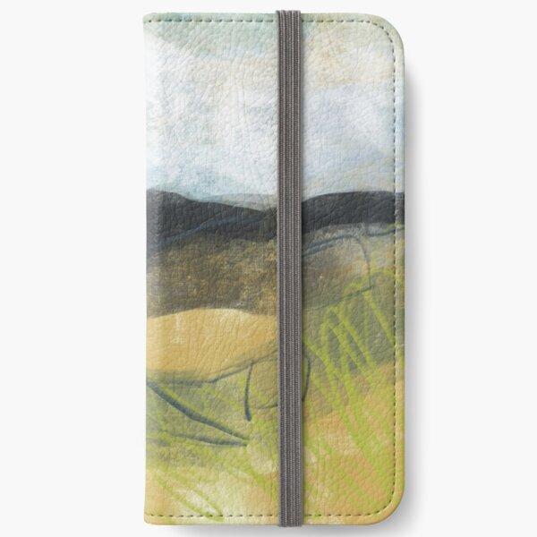 Higger Tor from Longshaw - Peak District art print iPhone Wallet