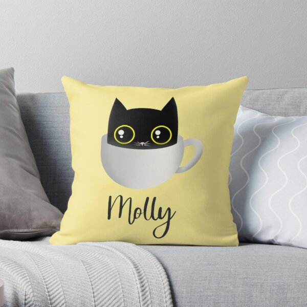 Mollys cat Throw Pillow