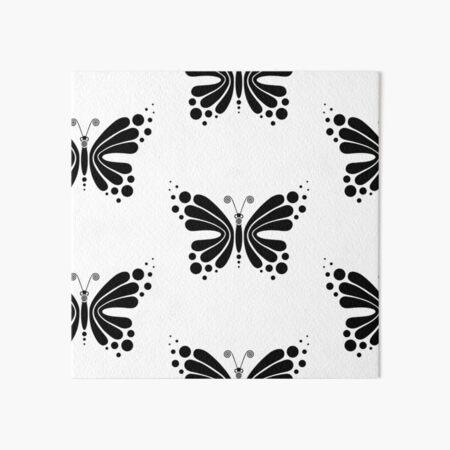 Hypnotic Butterfly B&W - Shee Vector Pattern Art Board Print