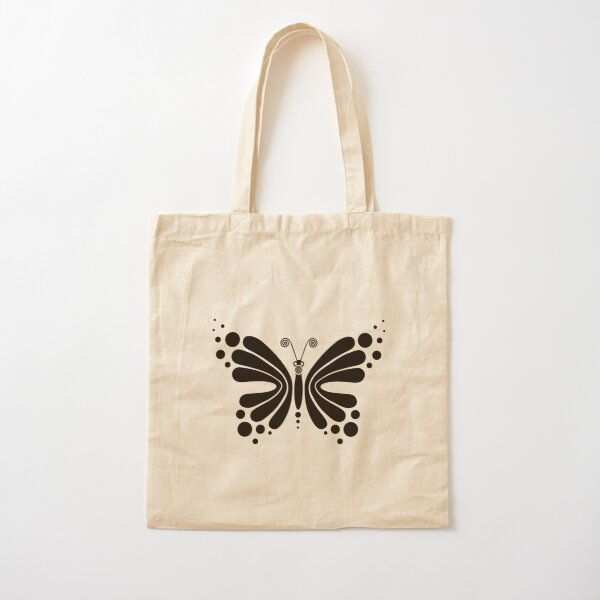 Hypnotic Butterfly B&W - Shee Vector Pattern Cotton Tote Bag