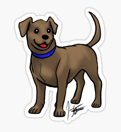 Chocolate Lab Glossy Sticker