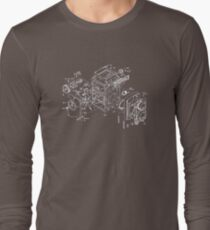 exploded rolleicord Long Sleeve T-Shirt