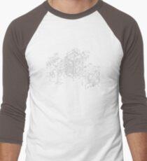 exploded rolleicord Men's Baseball ¾ T-Shirt