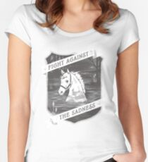 Fight against the sadness, Artax! Women's Fitted Scoop T-Shirt