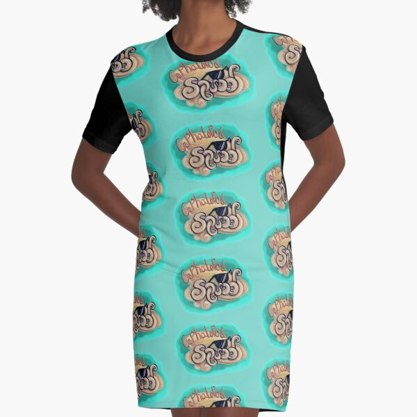 Cephalopod Squad Graphic T-Shirt Dress