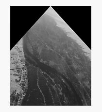 Egypt From Above - The Nile In Black and White - Framed Photographic Print