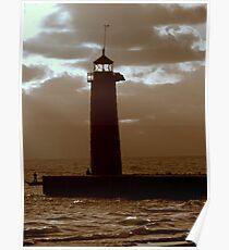Pierhead Lighthouse Kenosha Wisconsin Poster
