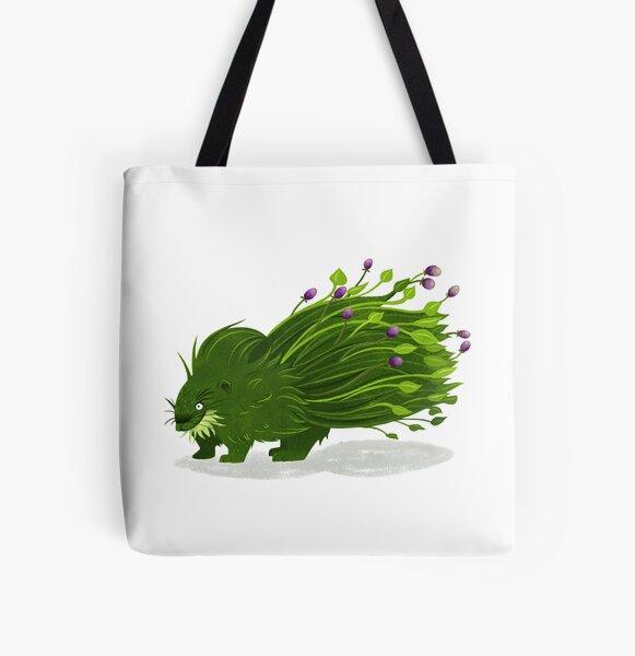 Pflanzenstachelschwein Allover-Print Tote Bag