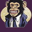 Grinning Chimp in a Monkey Suit by MudgeStudios