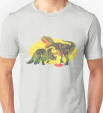 Triceratops vs T Rex Dino Fight Unisex T-Shirt