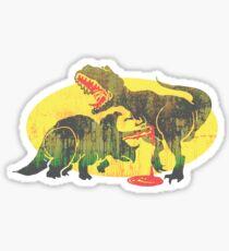 Triceratops vs T Rex Dino Fight Sticker