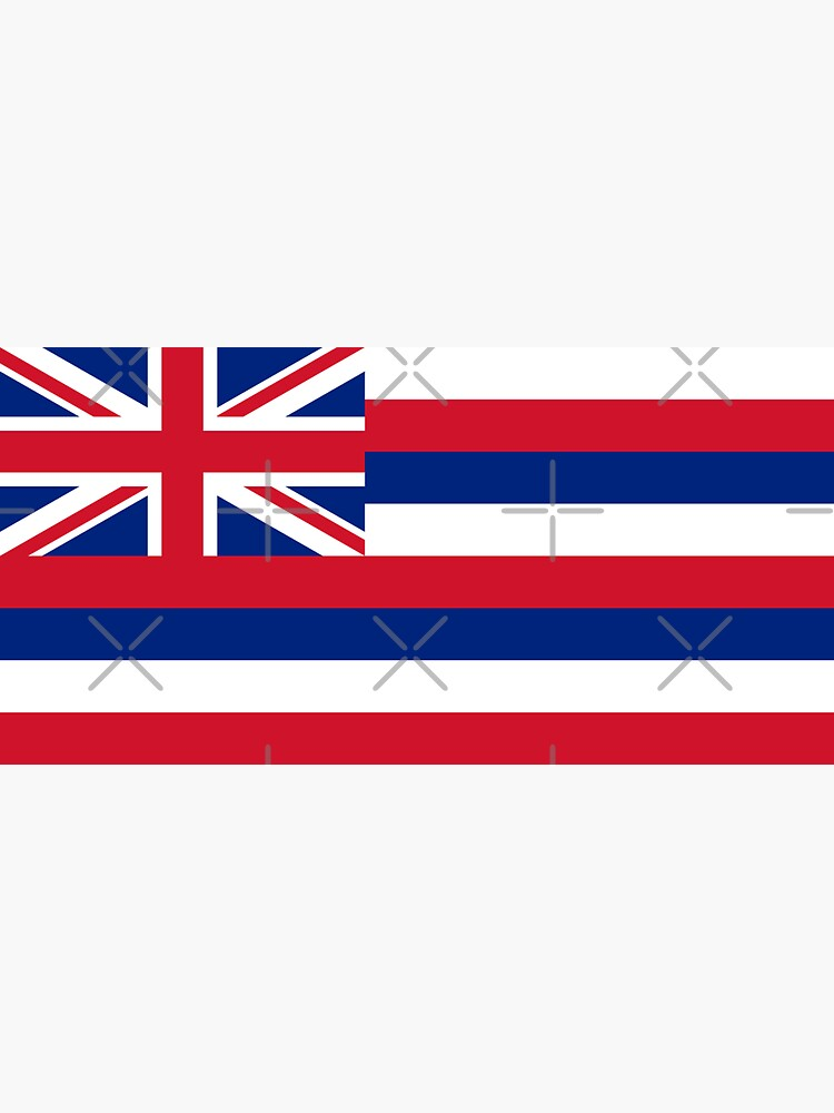 Hawaii HI Official State Flag by states