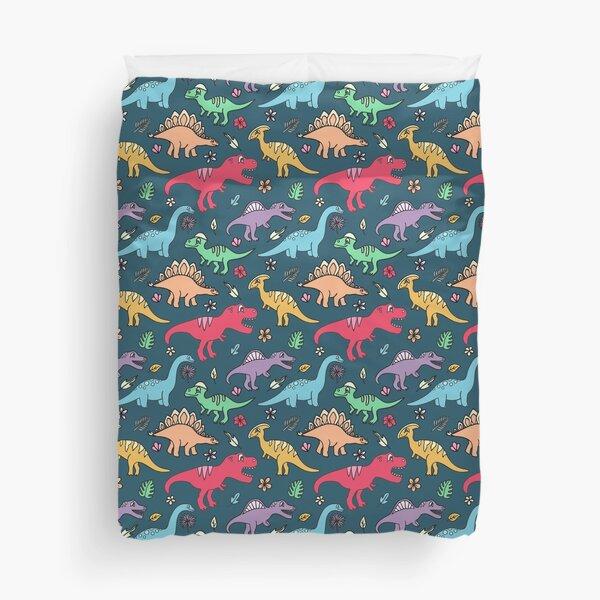 Dino Party - Dinosaur Pattern Duvet Cover