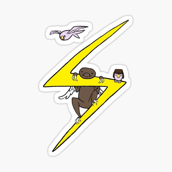 Winged Sloth Sticker