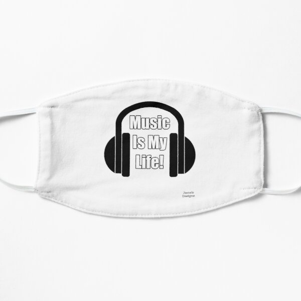 Music Is My Life w/ Headphones - Jame's Designs Mask