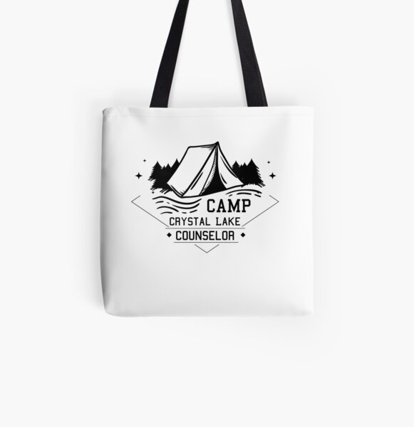 Camp Crystal Lake Counselor Slim Fit T-Shirt All Over Print Tote Bag
