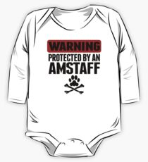 Warning Protected By An AmStaff One Piece - Long Sleeve