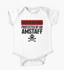 Warning Protected By An AmStaff One Piece - Short Sleeve