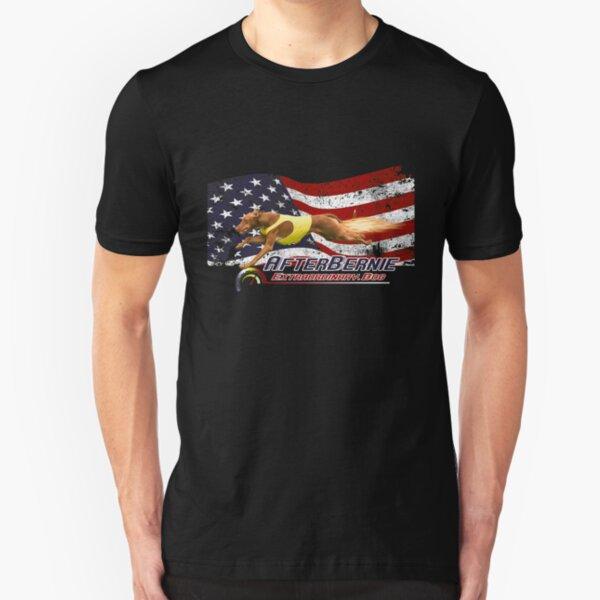 AfterBernie Patriot Extraordinary Dog Slim Fit T-Shirt