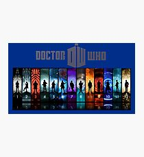 The Doctor Through Time Photographic Print