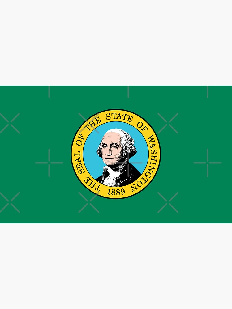 Washington WA Official State Flag by states