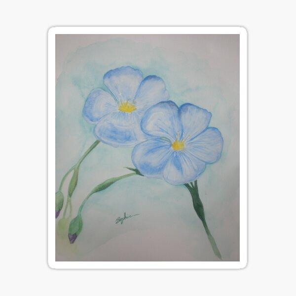 Flowers of Blue Sticker