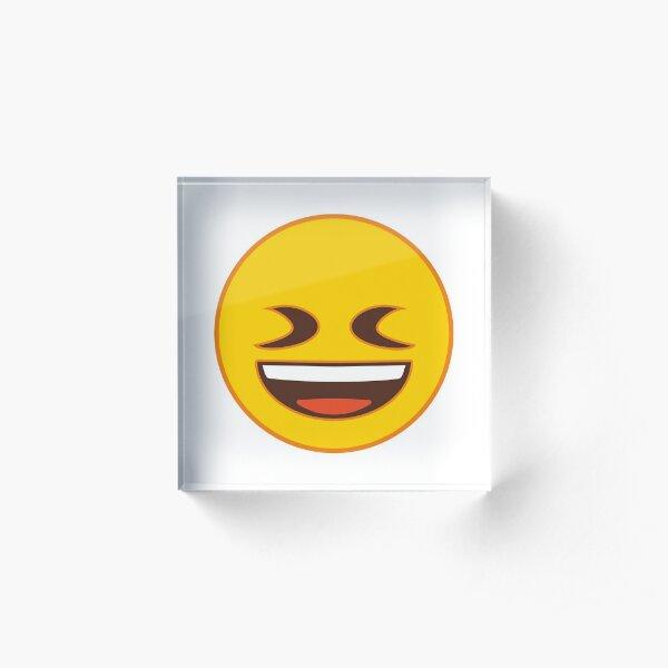 Squinting Face Emoji Acrylic Block