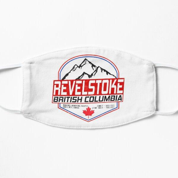 Retro Ski Revelstoke B.C Canada Skiing and Mountain Biking Paradise Flat Mask