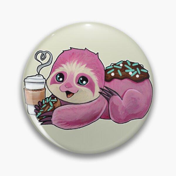 Pink donut sloth Pin