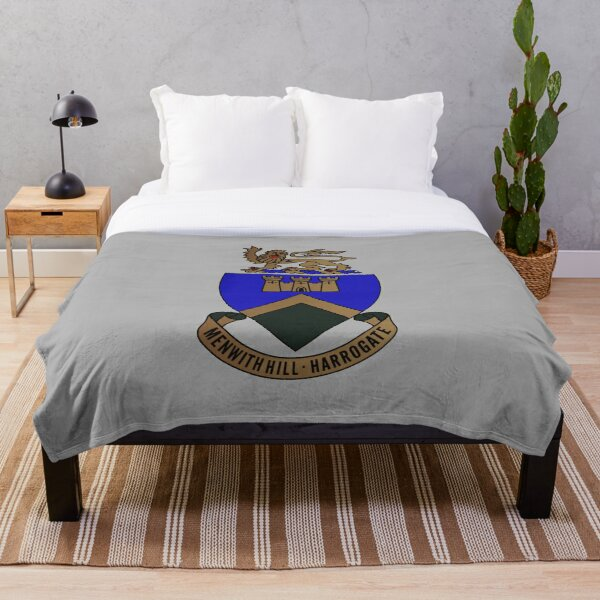 RAF Menwith Hill Crest Throw Blanket